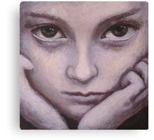 Portrait of a young girl. Canvas Print