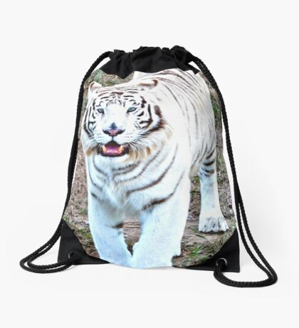 White Tiger Drawstring Bag