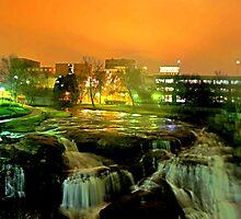 falls park @ night by allen-tyler