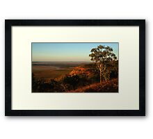 Mud Flats,Cambridge Gulf,viewed from the Bastion Range Framed Print
