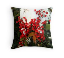 Holly Berries | Nature Throw Pillow