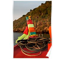 Thai Fishing Boat Bow Poster