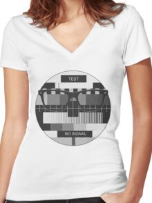 Retro Geek Chic - Headcase Old School Women's Fitted V-Neck T-Shirt