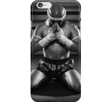 Muay Thai prayer  iPhone Case/Skin