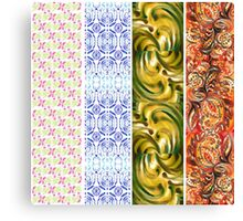 Multi Colored Floral Patterns I Canvas Print