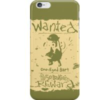 Wanted - One-Eyed Bart iPhone Case/Skin