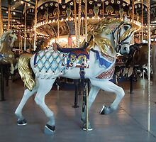 Historic Children's Carousel Horse  by ginawaltersdorf
