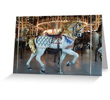 Historic Children's Carousel Horse  Greeting Card