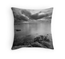 Approaching Dusk at Longniddry Bents (Mono) Throw Pillow