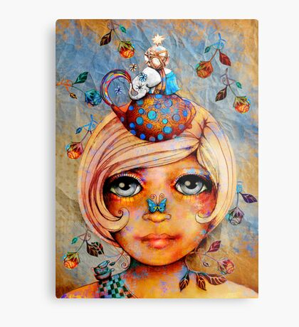 There's a Butterfly on my Nose Metal Print