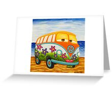 HAPPY HIPPEE KOMBI Greeting Card