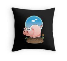 Cartoon Pig design t-shirt Throw Pillow
