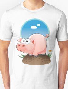 Cartoon Pig design t-shirt T-Shirt