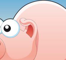 Cartoon Pig design t-shirt Sticker