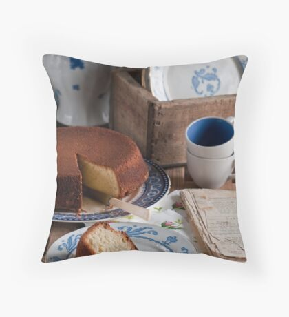Tea Time Throw Pillow