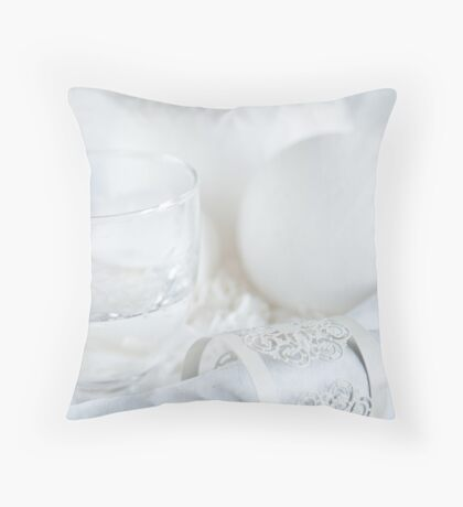 White table Throw Pillow