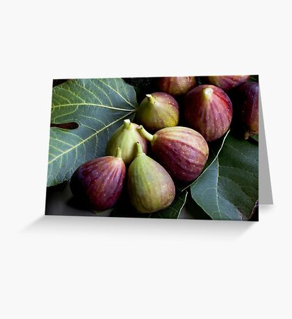 Figs and Leaves Greeting Card