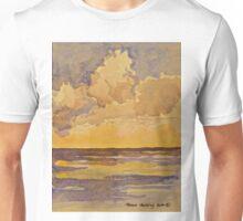 Sunset at sea. Watercolour. 2010Ⓒ Unisex T-Shirt