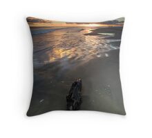 Charred orange dawn Throw Pillow