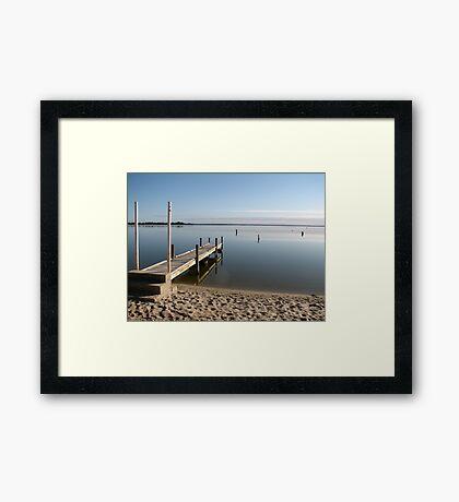 Still Waters - Lake Bonney, Barmera, SA Framed Print