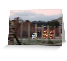 Logging Truck on the move. Greeting Card