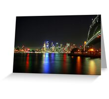 Sydney At Night - HDR Greeting Card