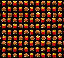 Burger & Fries Emojis by phantastique