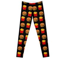 Burger & Fries Emojis Leggings