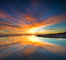 Orange blot dawn by Ken Wright