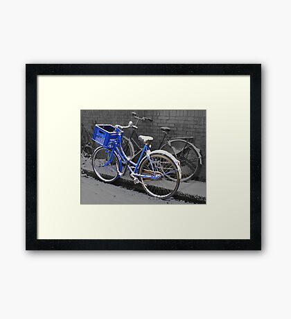 Painted blue Framed Print