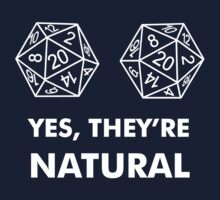 D20 Yes They're Natural Kids Tee