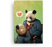 Wise Panda: Love Makes the World Go Around! Canvas Print