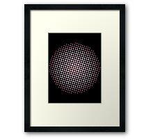 Halftone heaven Framed Print