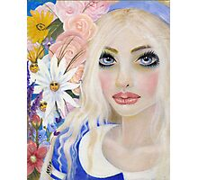 Alice in the Garden of Live Flowers, Original Art, Kim Turner Art Photographic Print