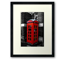 red box Framed Print