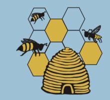 Bee happy in yellow One Piece - Short Sleeve