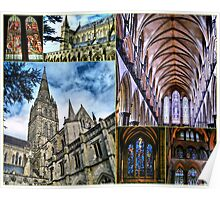 Collage Of Salisbury Cathedral Poster