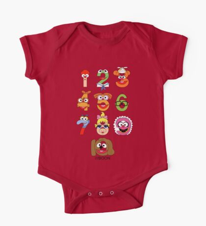 Muppet Babies Numbers One Piece - Short Sleeve
