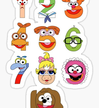 Muppet Babies Numbers Sticker