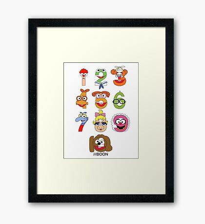 Muppet Babies Numbers Framed Print