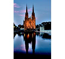 St Marys Cathedral - Sydney Festival First Night - Australia Photographic Print