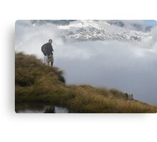 View over the clouds Canvas Print