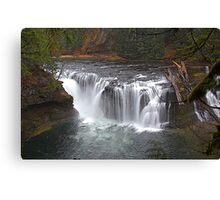 Lewis River Waterfall, Washington  Canvas Print