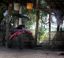 Farm outhouse and implements by fabianfred
