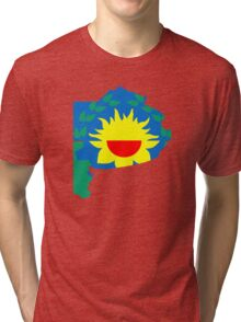 Flag Map of Buenos Aires Province Tri-blend T-Shirt
