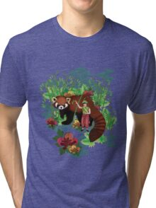 Red Panda Friend Tri-blend T-Shirt