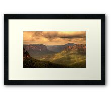 Light In The Valley - Govetts Leap, Blue Mountains, Sydney Australia - The HDR Experience Framed Print