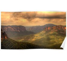 Light In The Valley - Govetts Leap, Blue Mountains, Sydney Australia - The HDR Experience Poster