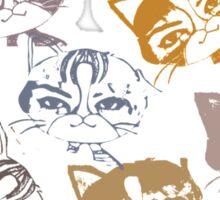 Several cats Sticker
