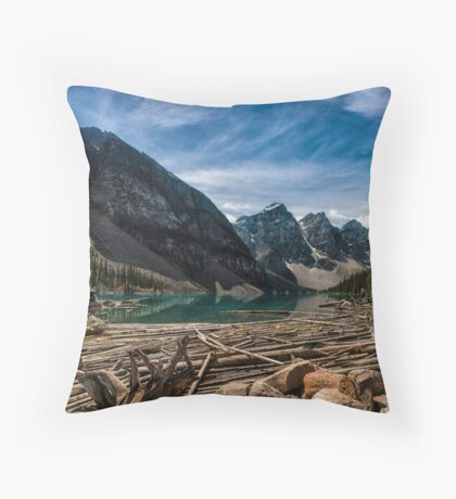 Logpiles and Rockpiles Throw Pillow
